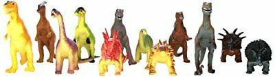 Rhode Island Novelty Assorted Jumbo Dinosaurs Up to 6-Inch Long Toy Figures P...