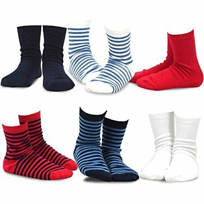 Naartjie Kids Boys Short Crew Socks - Solid and Stripes Mixed Assorted Colors...