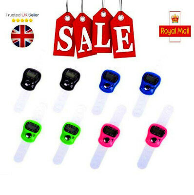 Mini Digital Finger Ring Tally Counter Hand Held Knitting Row Counter LED UK FAS