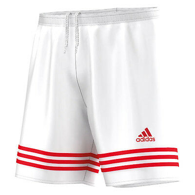 Boys Adidas Entrada Kids Football Shorts Sports Running Training Gym White