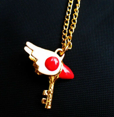 Anime Kinomoto Sakura Card Captor Sakura Star Wand Key Necklace Pendant Chain
