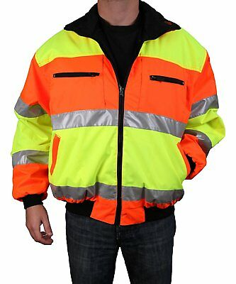 Safety Depot Cold Climate Safety Jacket ANSI Approved Class 3, Reversible, Water