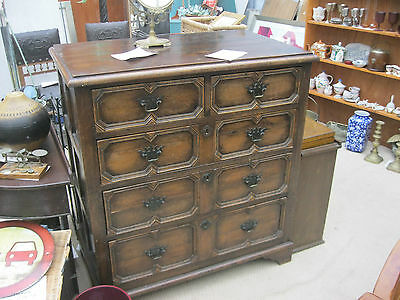Stunning Ornate Vintage Chest Of Drawers. '2 Over 3' Deep Drawers.delivery Poss
