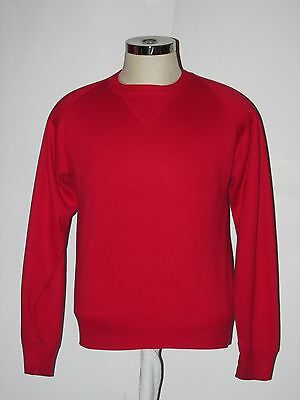 VTG RED V Sweatshirt VERY SOFT & THIN Raglan USA