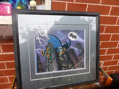 Batman and Robin Limited Edition  animation cel cell hand colored