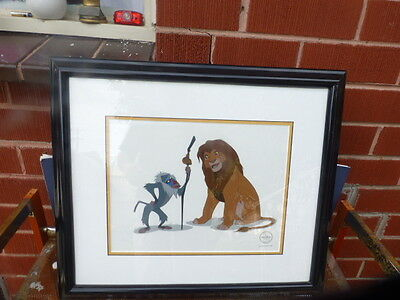Lion King Rafiki & Simba Limited Edition SeriCel animation cel