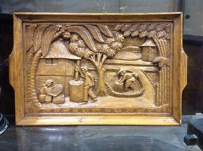 Hand Carved Philippine Serving Tray