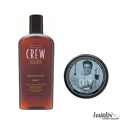 American Crew Limited Edition Fiber 85 g + 3in1 Daily Shampoo Haarpflege 250 ml