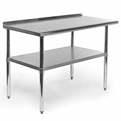 Stainless Steel Prep Table Work Restaurant Kitchen Commercial Food Backsplash