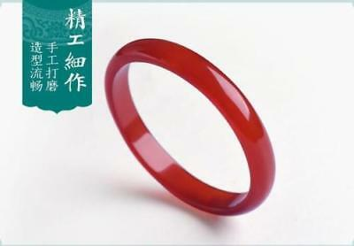 Chinese natural red agate chalcedony ice jade bangle bracelet 56 mm ~ 66 mm
