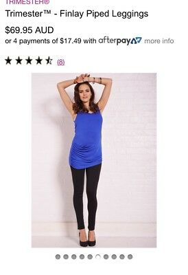 Trimester Finally Piped Maternity Leggings Size S (from queen bee Maternity)
