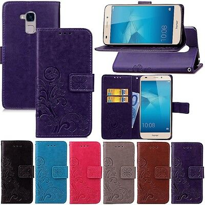 Coque Etui Housse Portefeuille Flower Luxe Cuir Neuf Honor 5X 5C Case New Cover