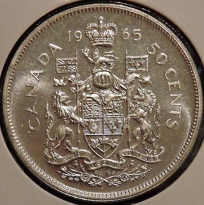 Canada Half Dollar - 1965 - Elizabeth II - $1 Unlimited Shipping
