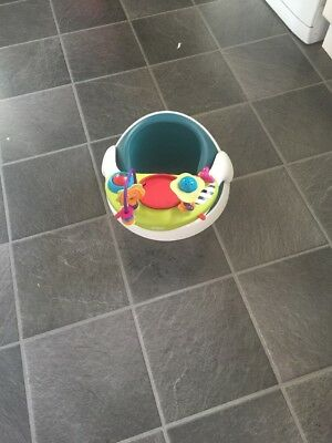 Mamas And Papas Snug Seat  Green Colour With Activity Tray
