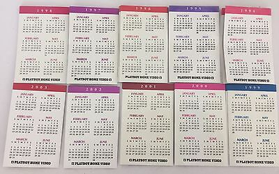 "10 PLAYBOY Playmate Mini Calendar's from 1994 to 2003 4""x 6.5"" nm/m"