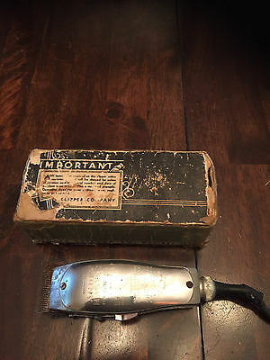 Vintage Andis Master Hair Clippers Model M Working with Original box