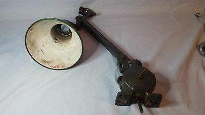 1940's MEMLITE ? INDUSTRIAL MACHINISTS LATHE BENCH WALL LIGHT LAMP ANGLEPOISE