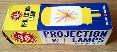 GE projection bulb lamp CZX DAB for movie or still projector 1970s new old stock
