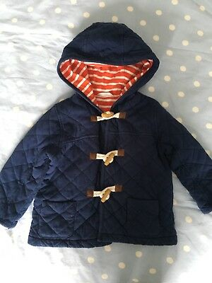 Boys Boden Lightweight Duffle Coat Navy 18-24 Months
