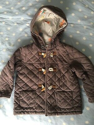 Baby Boys Boden Lightweight Duffle Coat Grey 18-24 Months