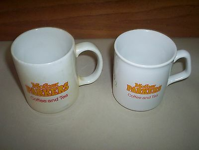 2 Vintage Mother Parkers Coffee or Tea Mugs Lot : East Side & National Grocers