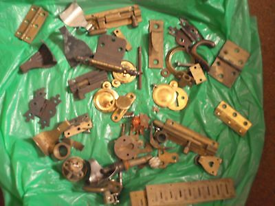 Brass keyhole covers hinges and bits .