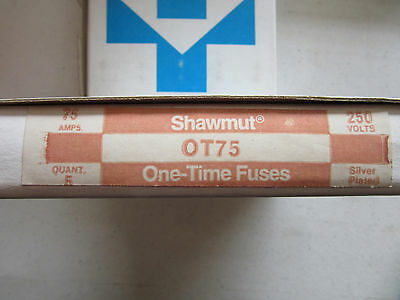 (5) Gould Shawmut OT75 Fuses 75 Amp 250V NEW!!! in Factory Box Free Shipping