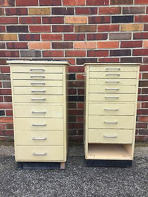 Vintage Industrial Dentists Cabinets, Storage Units, Drawers
