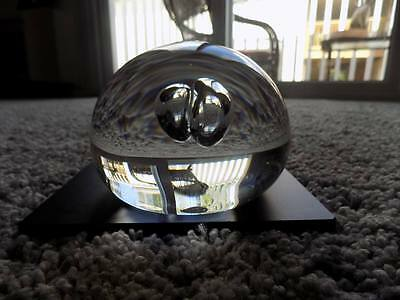Rare 1980's Vintage Orrefors Paperweight ARNE BRANZELL 4520/121 Signed Excellent