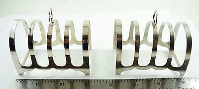 Vintage Pair of English Small Sized Sterling Silver Toast Racks 1935 & 1938