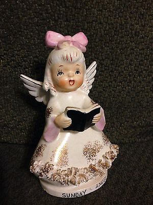 Vintage Metasco Japan Sunday Angel Child of the week Figurine 4 1/2 inches tall