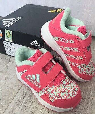 Pink Printed Adidas Trainers Brand NEW Size 6 K Infant
