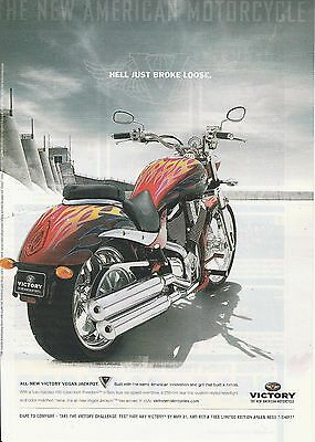 2006 Victory Vegas Jackpot motorcycle print ad   Great to frame!