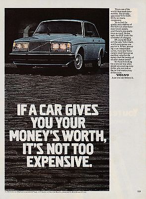 MINT 1980 Volvo GLE car print ad    Great to frame!