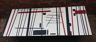Mid Century 1950s Atomic Formica Table Abstract Design