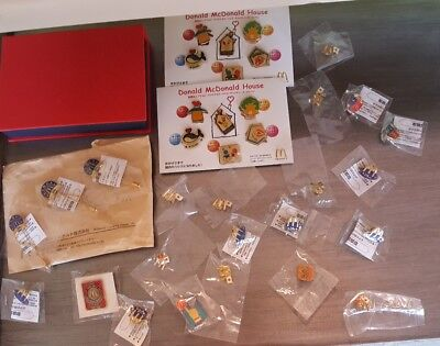 Lot of 35 Vintage McDonalds Pin Collection Mostly International