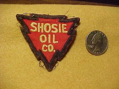 """""""SHOSIE OIL CO."""" Used, vintage Sew-On Cloth Patch - """"RARE????"""""""