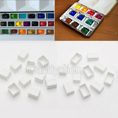 20Pcs Water Colour Artist Palette Empty Half Full Pans For Watercolour Painting
