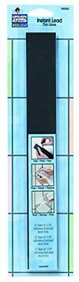 """Plaid:Craft Gallery Glass Instant Lead Lines 12"""" Black 1/16"""" Thick 21/Packaging"""