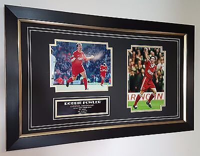 Robbie Fowler Liverpool Signed Photo Picture Autographed Display