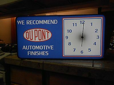 Dupont  Lighted Sign with Clock