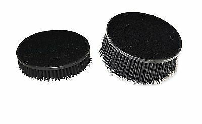 "2x Car Seat Carpet Upholstery Mat 5"" Round Spinner Brush Hook-N-Loop Attachment"