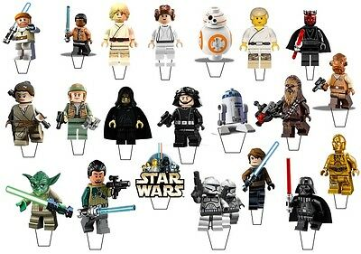 21  Lego Star Wars STAND UP Edible Cupcake  Topper Edible Decorations *Pre-Cut*