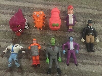 Collection of 9 Vintage The Real Ghostbusters Figures Toys 1980's Kenner