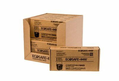 EcoSafe-6400 CP1617-6 Certified Compostable Bag 2.5-Gallon Green (Pack of 90)