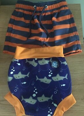 Large Happy Nappy and Next Swim Shorts Age 6-9 Month