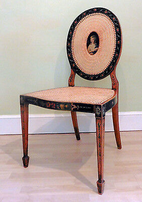 Antique Sheraton Satinwood and Hand Painted Chair