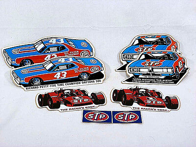 Vintage STP Sticker Set - Richard Petty NASCAR and Indy Cars Double Lot - NOS