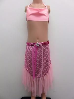 Dance Costume Medium Child Pink Mermaid 2 PC Musical Theater Solo Competition