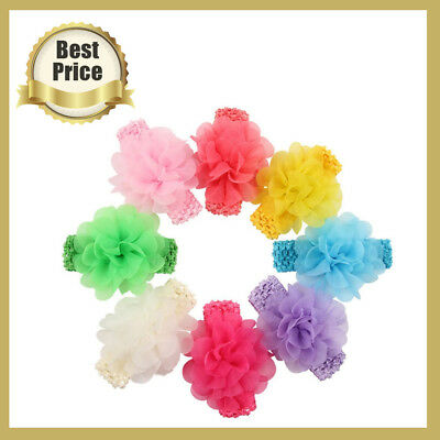 6pcs Kids Girl Baby Toddler Lace Flower Headband Hair Band Accessories Headwear